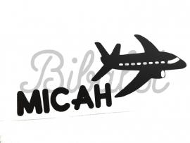 Naam met vliegtuig