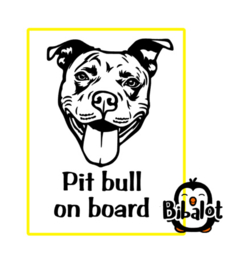 Pit bull on board| Auto Stickers