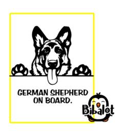 German shephard on board| Auto Stickers