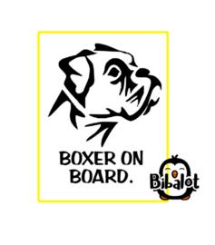 Boxer on board| Auto Stickers