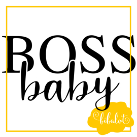 Boss baby | Strijkapplicatie