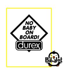 No baby on board | Auto Stickers