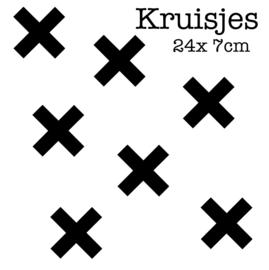 Kruisjes 7 cm | Muur decoratie