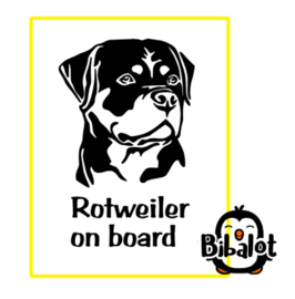 Rotweilerl on board| Auto Stickers
