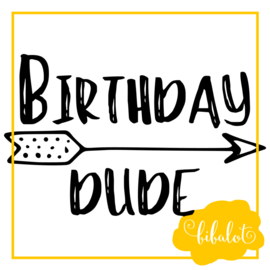 Birthday dude | Strijkapplicatie