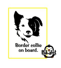 Border collie on board| Auto Stickers