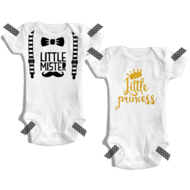 Little mister/Little princess | Romper