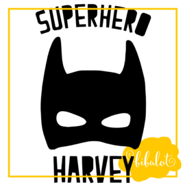 Superhero met naam | Strijkapplicatie