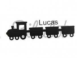 Naam sticker met trein