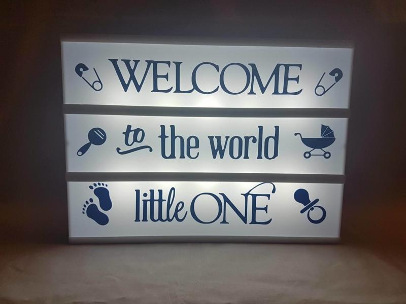 Welcome to the world - Lichtbak vellen
