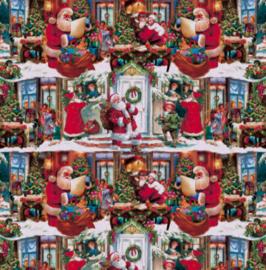 Tafelzeil kerst - Kerstman kerstsfeer