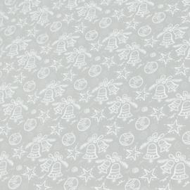Tafelzeil kerst - Fancy Christmas zilver