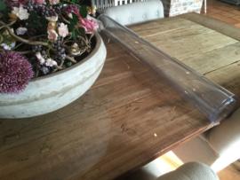 Doorzichtige tafelbeschermer - transparant tafelzeil (2.2mm), ROND GESNEDEN!