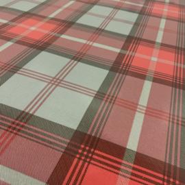 Geplastificeerd katoen - Highland ruit rood