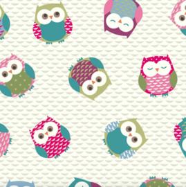 Geplastificeerd katoen - Owls