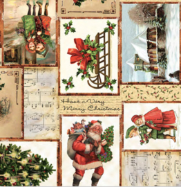 Tafelzeil kerst - Christmas songs