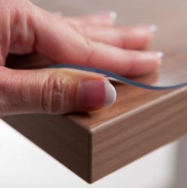 Doorzichtige tafelbeschermer 2.2 mm - transparant tafelzeil (40 t/m 70cm breed)
