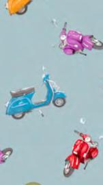 Tafelzeil - Vespa scooter blauw