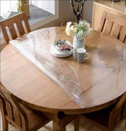 Doorzichtige tafelbeschermer - (2.2mm) ROND GESNEDEN!