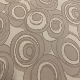 Gecoat tafellinnen - Cool brown circle