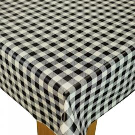 Tafelzeil - Blok/ruit zwart-wit