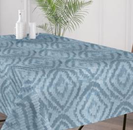 Gecoat tafellinnen/tafelkleed - Cassat blue