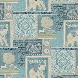 Geplastificeerd katoen - Indian elephant
