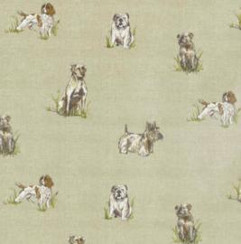 Geplastificeerd katoen - honden