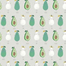 Geplastificeerd katoen - Avocado/peer