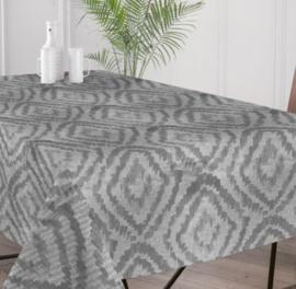 Gecoat tafellinnen/tafelkleed - Cassat grijs