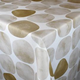 Gecoat tafellinnen/tafelkleed - Arapoff arena bruin/beige