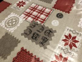 Tafelzeil kerst - Patchwood gehaakt
