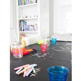 Tafelzeil - Krijt tafelzeil zwart