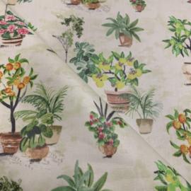 Geplastificeerd katoen - Gardenia
