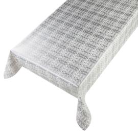 Tafelzeil - Basket weave silver