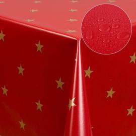 Tafelzeil kerst - Rood/gouden kerstster