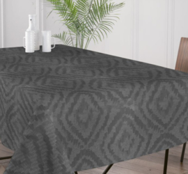 Gecoat tafellinnen/tafelkleed - Cassat zwart