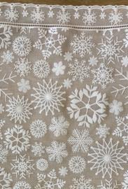 Tafelloper kerst - Wit sneeuwvlok