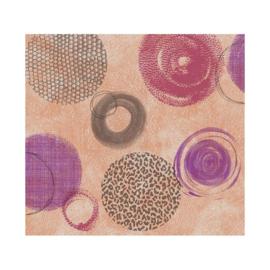 Tafelzeil - Paars/roze cirkels
