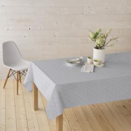 Gecoat tafellinnen - Elyse licht grijs