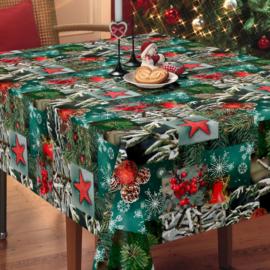 Tafelzeil kerst - Christmas nature