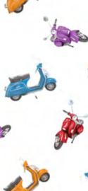 Tafelzeil - Vespa scooter wit