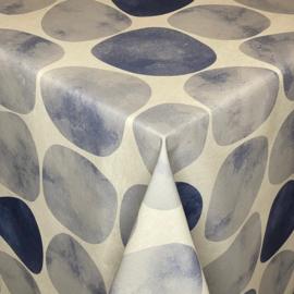 Gecoat tafellinnen/tafelkleed - Arapoff rio blauw