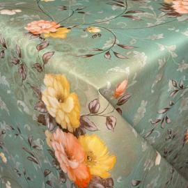 Tafelzeil - Flower groen