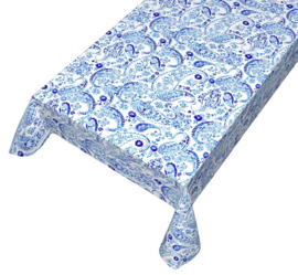 Gecoat tafellinnen digitaal geprint - Blue print