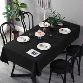 Gecoat tafellinnen/tafelkleed (EXTRA BREED) - Uni zwart