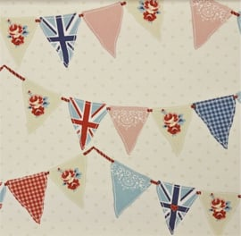 Geplastificeerd katoen - Vlaggenlijn/verjaardag