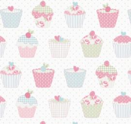 Geplastificeerd katoen - Cupcakes