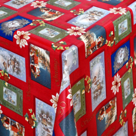 Kerst tafelzeil - Christmas season rood