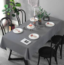 Gecoat tafellinnen/tafelkleed (EXTRA BREED) -  Uni grijs